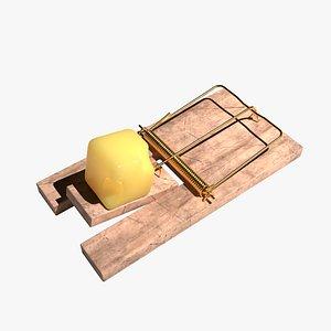 realistic Mousetrap PBR 3D