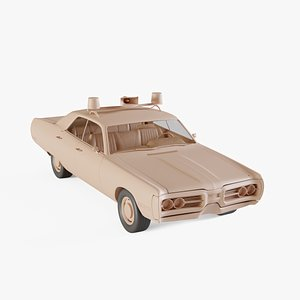 1972 Plymouth Fury Police 3D