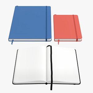 hardcover strap notebook 3D model