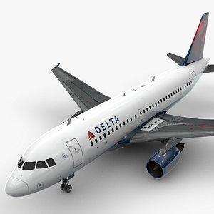 3D Airbus A319-100 DELTA Airlines L1369