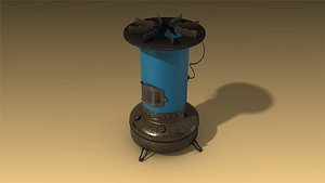 low-poly aladdin flame heater 3D
