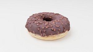 Doughnut glazed with chocolate model