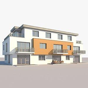 realistic apartment building model