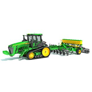 3D Tractor with Seed Drill