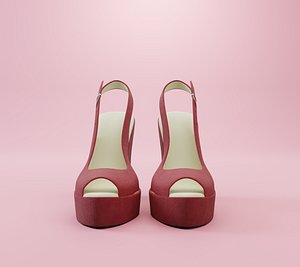 3D Wedge Shoes Woman