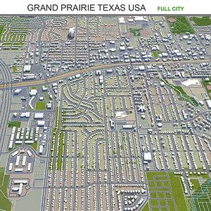 3D Grand Prairie Texas USA model