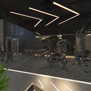 gym fitness interior 3D model
