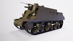 3D 105 mm self-propelled howitzer M7B2 model