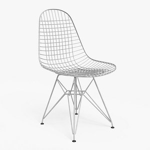 Wire Chair DKR White - PBR 3D model
