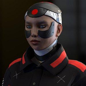 3D model tokyo machine girl character