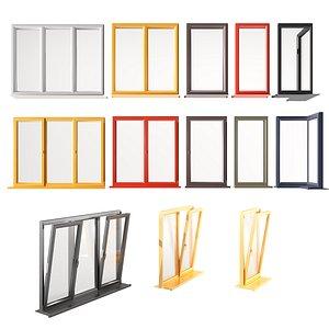 aluminum windows 3D