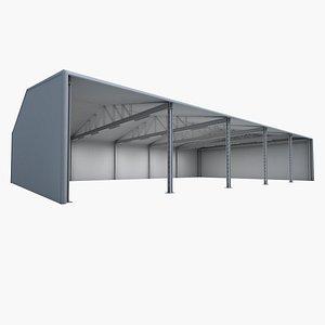 storage warehouse 3D model