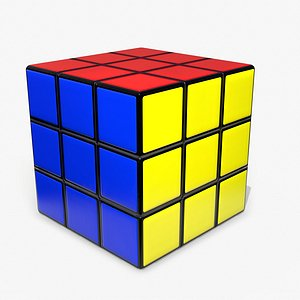 Rubik's Cube Low Poly PBR 3D