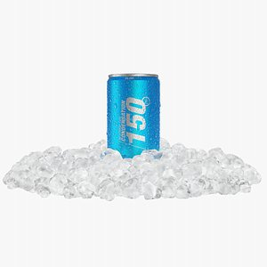 3D Slim Condensation Can 150ml Small Ice Heap model