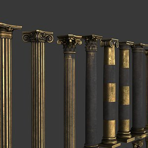 3D Vol2 collection of classic columns