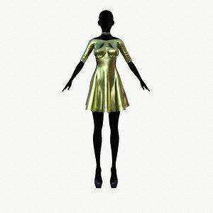 fashion dress clothing 3D