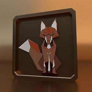 3D model Fox Frame Art