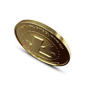 litecoin coin crypto 3D model