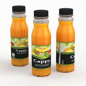 3D Beverage Bottle Cappy Multivitamin 330ml 2021 model