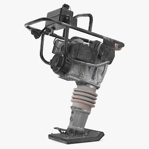 Tamping Rammer Dirty Rigged 3D model