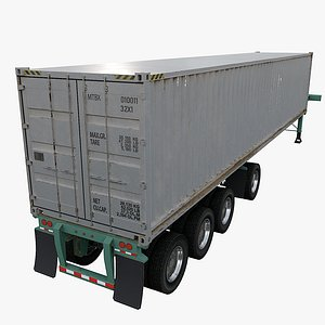 3D container vehicle truck