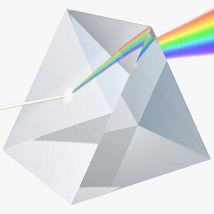 3D model light glass prism