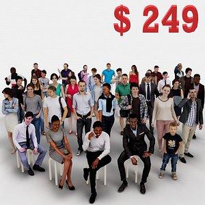 3d human people 3 42x