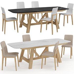 Chair Table Atitud Buondi 3D model