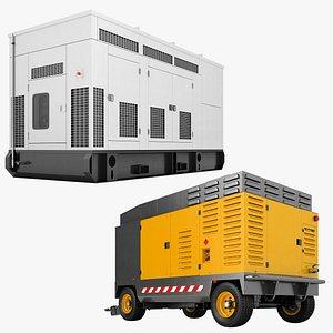 Diesel Generator Collection 01 model