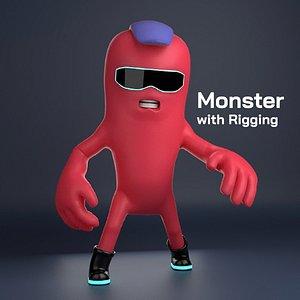 monster cartoon style model
