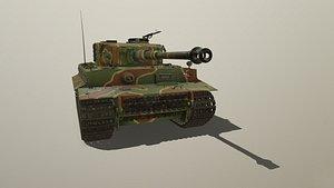 3D tiger tank e