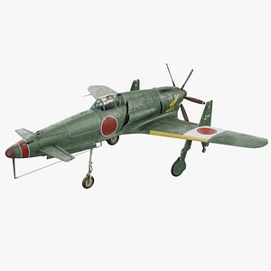 Japanese Fighter Jet Kyushu J7W Shinden 3D
