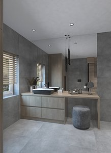 Simple shower room 3D