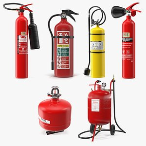 3D Fire Extinguisher Collection 4