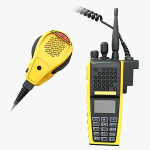 2 Way Radio Radio and mic Firefighter  EMS 3D