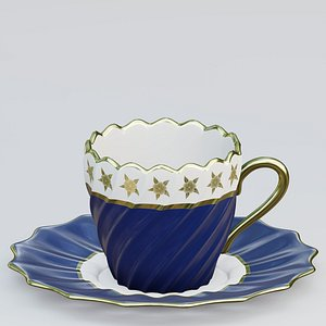 Fluted twisted teacup model