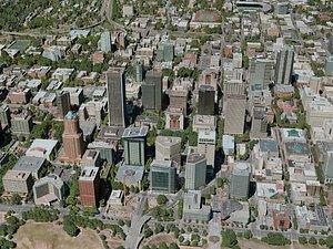 portland city 3D model