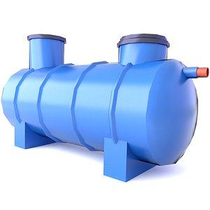 3D Sewage Treatment Plant LowPoly Game Mods 6 3D model
