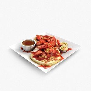 strawberry shortcake pancakes 3D model