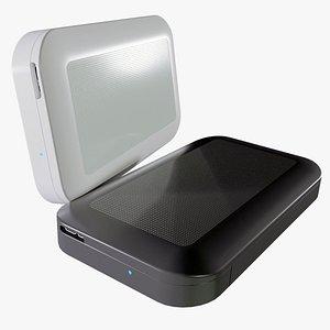 3D hard drive usb 3 model