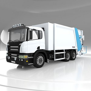 3D Container Washing Garbage Truck
