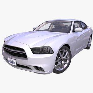 3D generic american sedan interior car