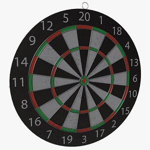 3D DartBoard Wooden Board Game model