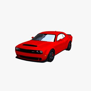 3D dodge challenger demon 2018