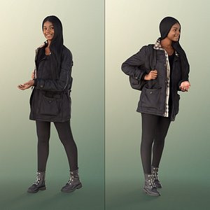 3D woman bag talking model