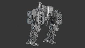 3D Heavy Mech model