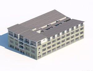 3D model workshop city building