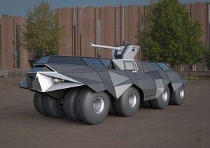 batmobile tank concept 3D model