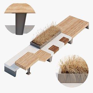 bench furniture model