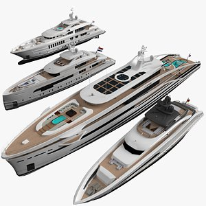 yacht pbr 3D model